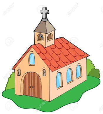4369090-Iglesia-de-estilo-europeo-ilustraci-n-vectorial--Foto-de-archivo