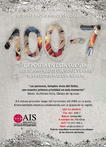 Campaña de ayuda al norte de Chile