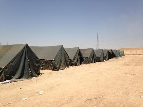 Tiendas de campaña en Irak