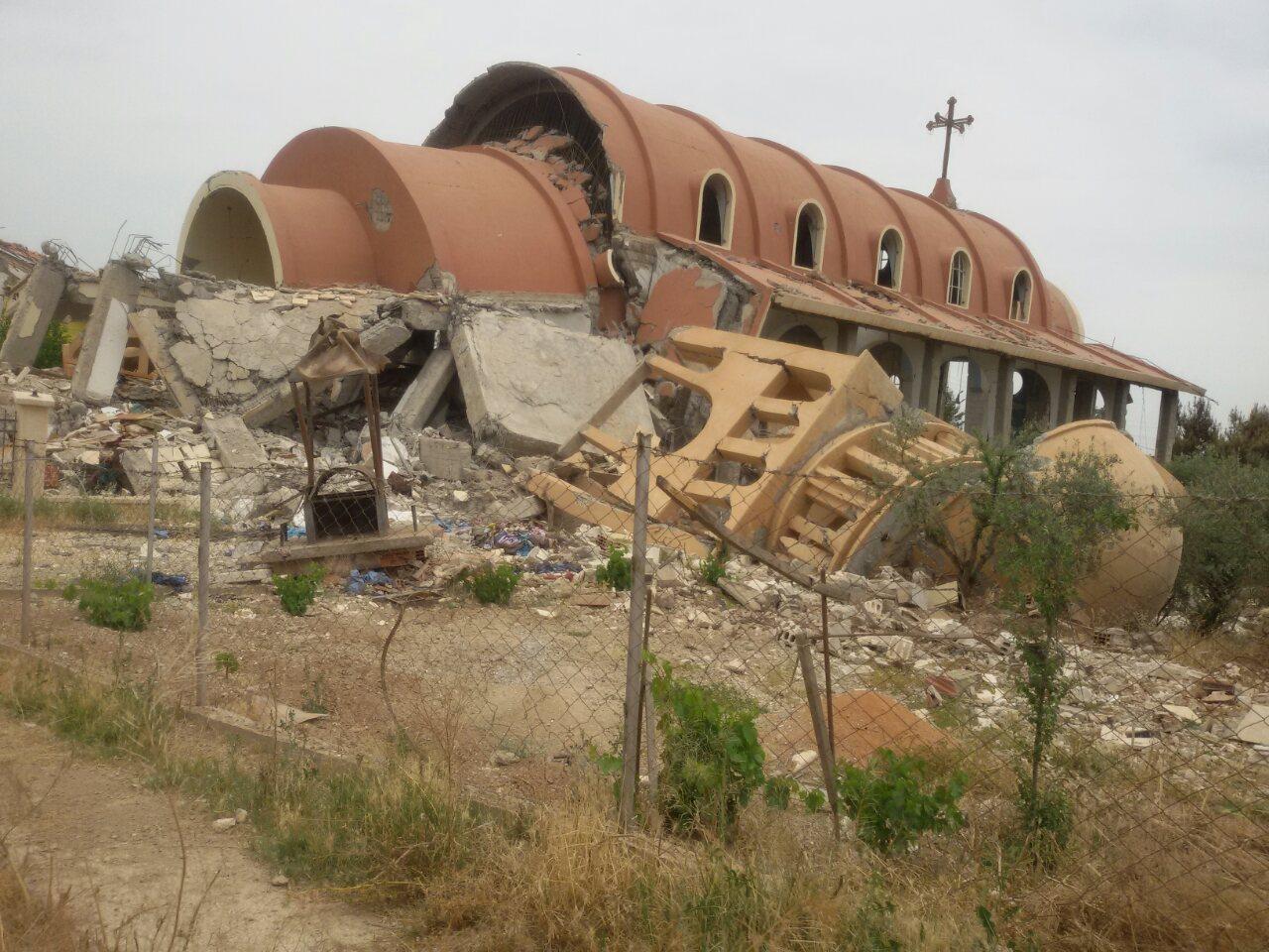 Iglesia Destruida en Siria