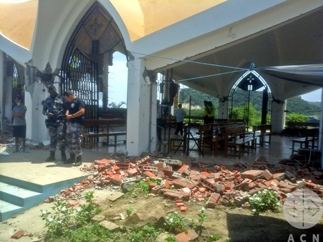 One of the badly damaged churches